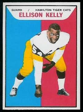 Ellison Kelly 1965 Topps CFL football card