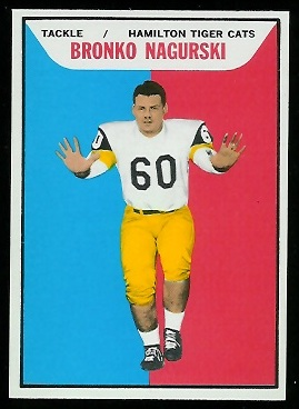 Bronko Nagurski Jr. 1965 Topps CFL football card