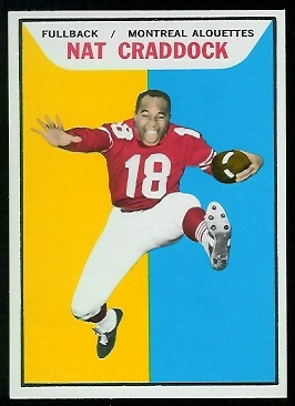 Nat Craddock 1965 Topps CFL football card