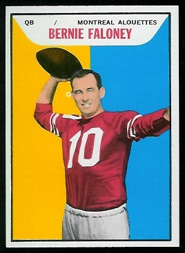 Bernie Faloney 1965 Topps CFL football card