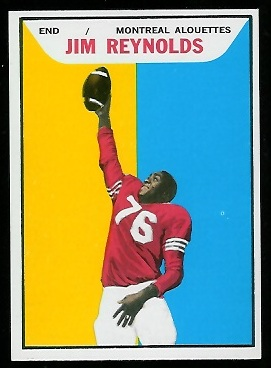 Jim Reynolds 1965 Topps CFL football card