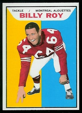 Billy Roy 1965 Topps CFL football card
