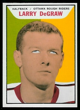 Larry DeGraw 1965 Topps CFL football card