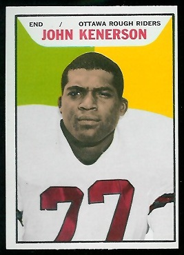 John Kenerson 1965 Topps CFL football card