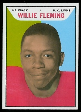 Willie Fleming 1965 Topps CFL football card