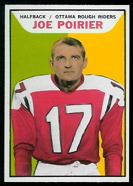 Joe Poirier 1965 Topps CFL football card