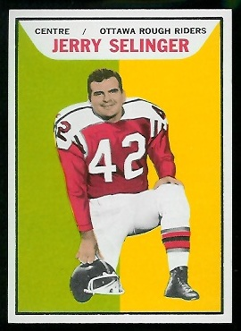 Jerry Selinger 1965 Topps CFL football card