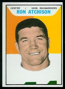 Ron Atchison 1965 Topps CFL football card