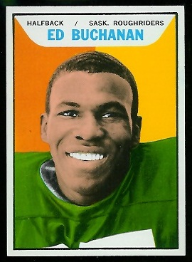 Ed Buchanan 1965 Topps CFL football card