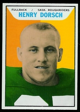 Henry Dorsch 1965 Topps CFL football card