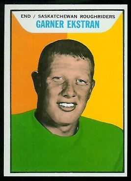 Garner Ekstran 1965 Topps CFL football card