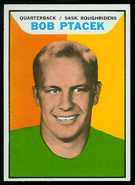 Bob Ptacek 1965 Topps CFL football card