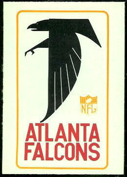 Falcons Logo 1966 Philadelphia football card