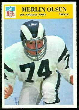 Merlin Olsen 1966 Philadelphia football card