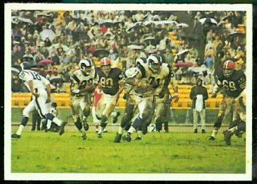Rams Play 1966 Philadelphia football card