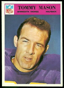 Tommy Mason 1966 Philadelphia football card