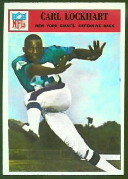 Spider Lockhart 1966 Philadelphia football card
