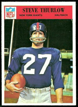 Steve Thurlow 1966 Philadelphia football card