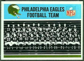 Philadelphia Eagles Team 1966 Philadelphia football card