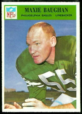 Maxie Baughan 1966 Philadelphia football card