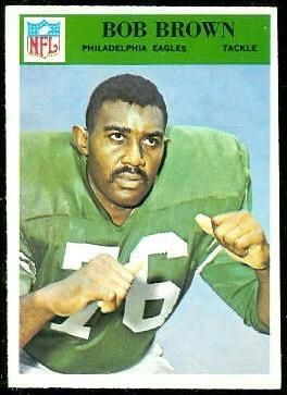 Bob Brown 1966 Philadelphia football card