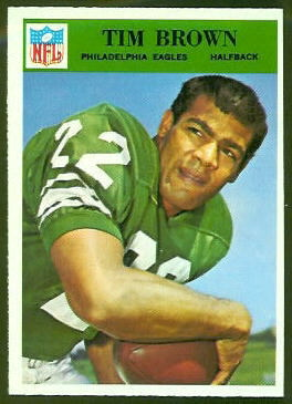 Timmy Brown 1966 Philadelphia football card