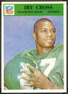Irv Cross 1966 Philadelphia football card