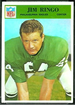 Jim Ringo 1966 Philadelphia football card