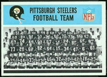 Pittsburgh Steelers Team 1966 Philadelphia football card