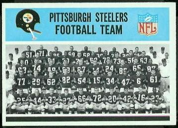 Pittsburgh Steelers Team 1966 Philadelphia football card