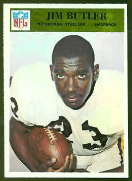Jim Butler 1966 Philadelphia football card