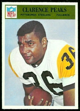 Clarence Peaks 1966 Philadelphia football card