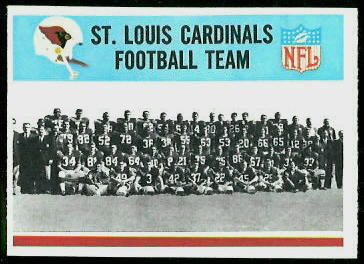St. Louis Cardinals Team 1966 Philadelphia football card