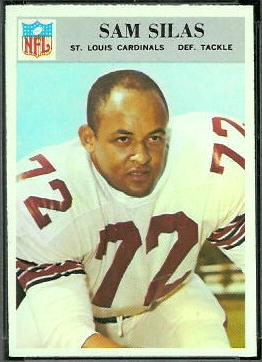 Sam Silas 1966 Philadelphia football card