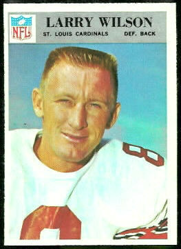 Larry Wilson 1966 Philadelphia football card