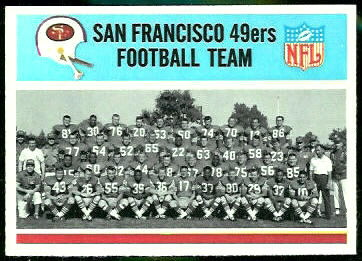 San Francisco 49ers Team 1966 Philadelphia football card