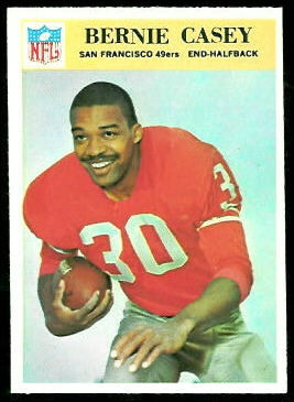 Bernie Casey 1966 Philadelphia football card