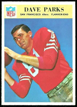 Dave Parks 1966 Philadelphia football card