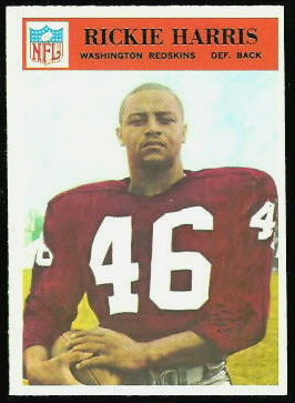 Rickie Harris 1966 Philadelphia football card