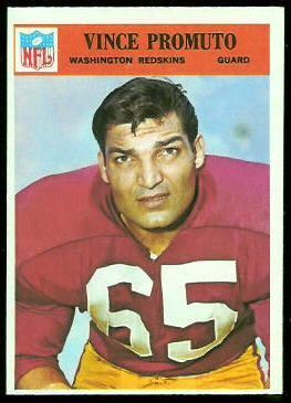 Vince Promuto 1966 Philadelphia football card