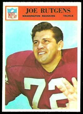Joe Rutgens 1966 Philadelphia football card