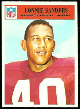 Lonnie Sanders 1966 Philadelphia football card