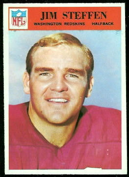 Jim Steffen 1966 Philadelphia football card