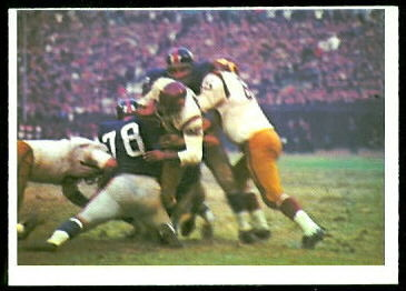 Redskins Play 1966 Philadelphia football card