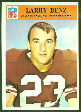Larry Benz 1966 Philadelphia football card
