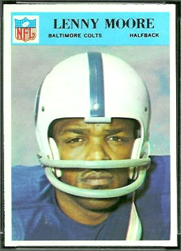 Lenny Moore 1966 Philadelphia football card