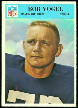Bob Vogel 1966 Philadelphia football card