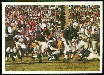 Colts Play 1966 Philadelphia football card