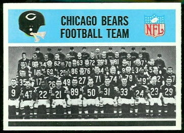 Chicago Bears Team 1966 Philadelphia football card