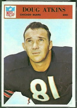 Doug Atkins 1966 Philadelphia football card